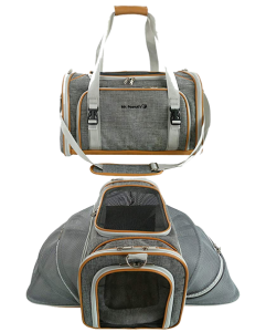 Mr. Peanuts Double Expandable Airline Approved Soft Sided Pet Carrier