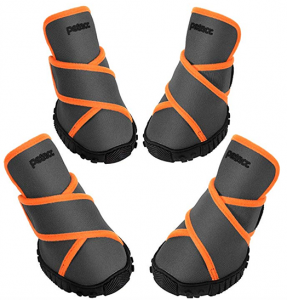 Petacc Dog Boots Waterproof with rubber bottom