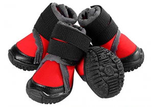 Petilleur Breathable Dog Hiking Shoes with rubber bottom