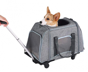 Petsfit Rolling Pet Carrier for Pets